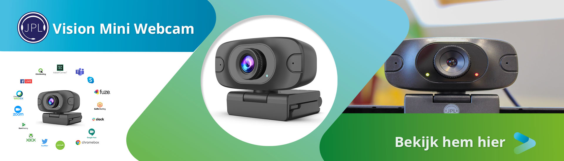 JPL Vision Mini Webcam 1080p - 30FPS Plug en play USB-A